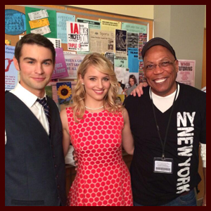 """First Look: Chace Crawford & Dianna Agron On Set of """"Glee's"""" 100th Episode"""