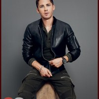 Logan Lerman Suits Up Military Style for GQ & Dishes on Brad Pitt, 'Fury'
