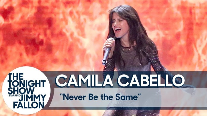 """Camila Cabello Performs """"Never Be the Same"""" on the Tonight Show & Reveals What She Thought of Fifth Harmony's VMA Performance"""