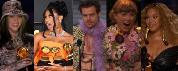 2021 GRAMMYs Winners: See the Full List Including Taylor Swift, Megan Thee Stallion, Harry Styles