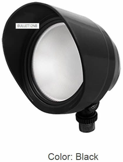 rab lighting 12 watts led bullet floodlight fixture 120v with hood and lens product configurator