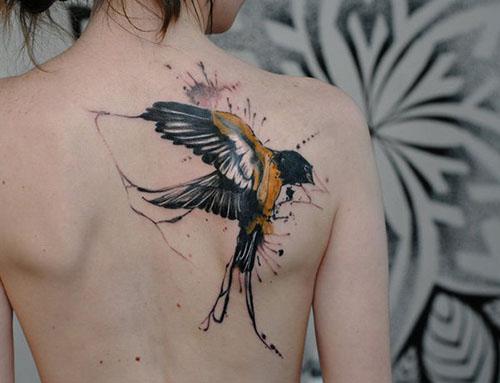 tatuaggio uccello