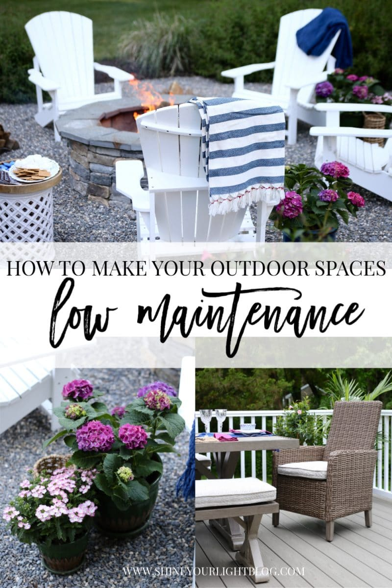 outdoor living spaces low maintenance