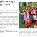 Pupils gift for Royal Wedding couple