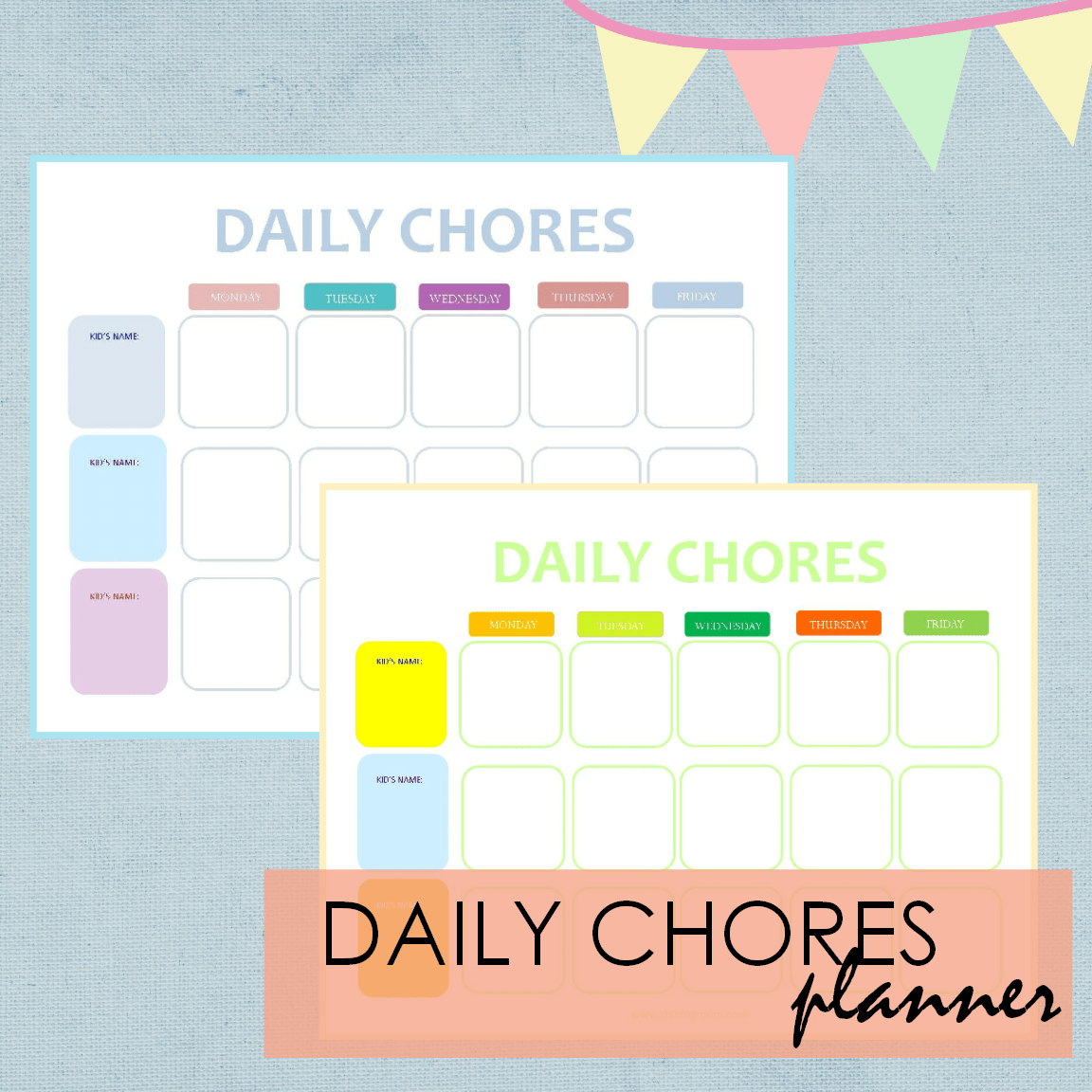 FREE DAILY CHORES PLANNER