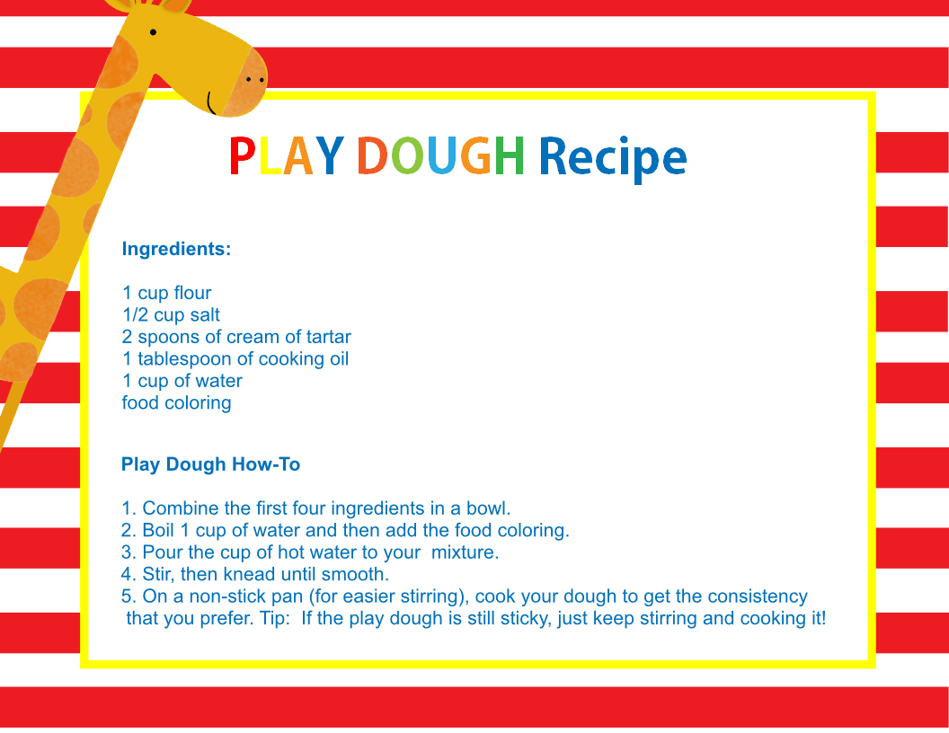 How to make playdough with cream of tartar and without cooking it