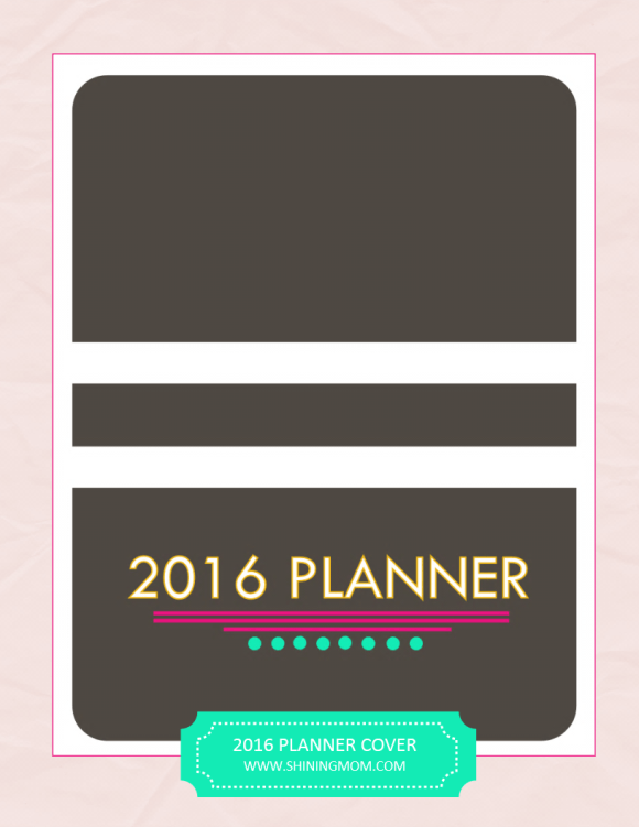 free 2016 planner cover