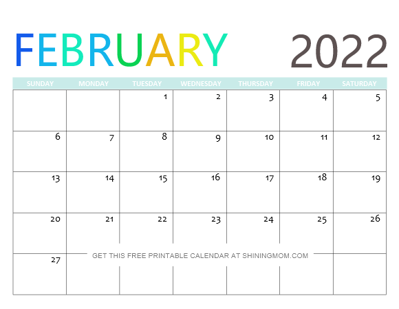 Each month has different design related to the season. 2022 Free Printable Calendars