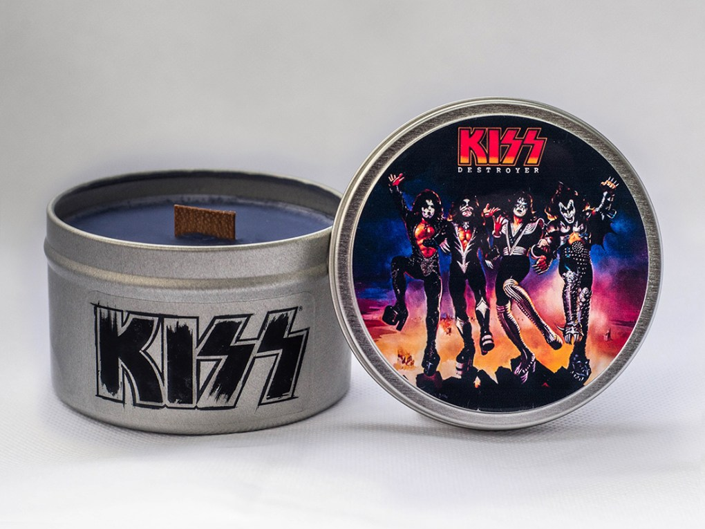 Kiss - Destroyer - Travel Tin Candle