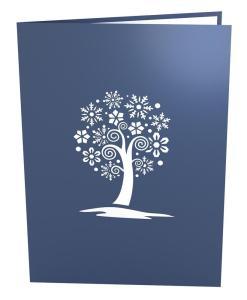 Snowflake Tree Greeting Card