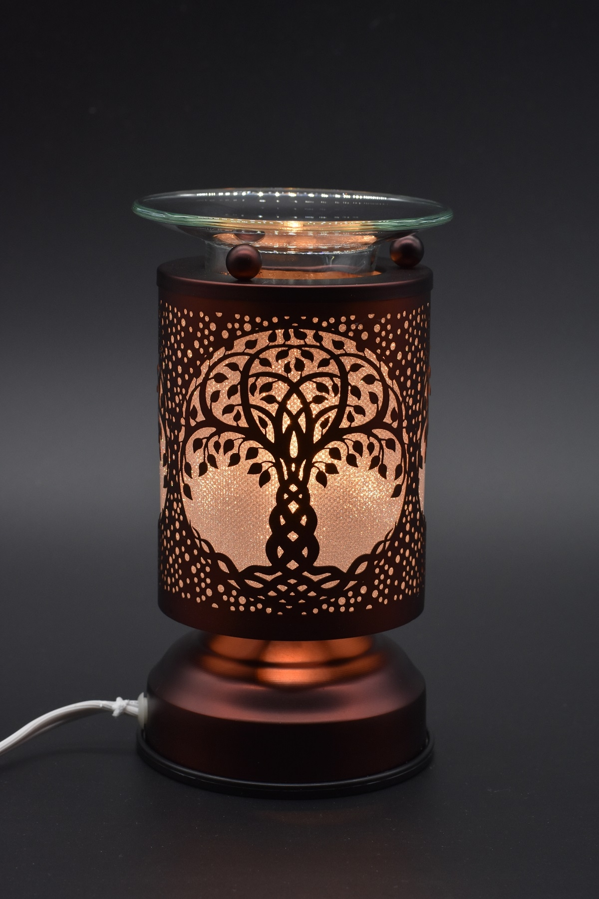 Tree Of Life Copper Touch Warmer Shining Sol Candle