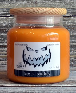 Halloween King of Pumpkins Large Candle