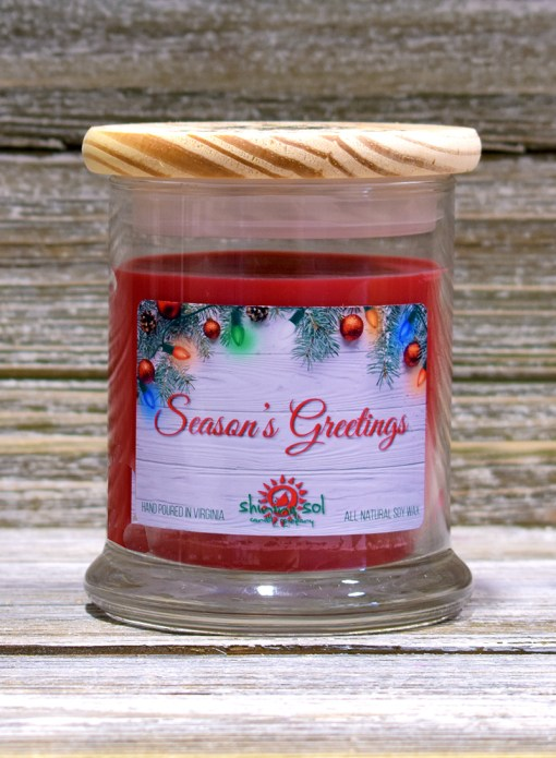 Season's Greetings - Medium Candle