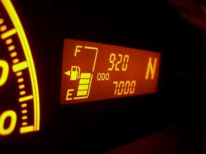 7,000km の ODO メーター