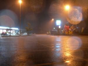 この前日の大雨。帰省中に道の駅はなわにて。2008-08-13 撮影