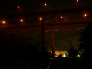 異様な高さの常磐高速道。茨城県道 36 号線本山方面側より撮影