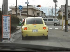 黄色いびーとる君。人気の電気ねずみに似ています。