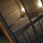 海風土の部屋の、ふすまで区切られた寝室。実際に見てみるともっと素敵です。