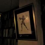 カウンター奥にある、マイルス・デイビスの絵。