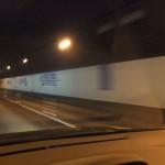 磐越自動車道、黒森山トンネルにて。新潟県に越境する瞬間。