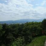 信夫山の展望台にて