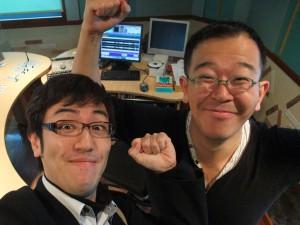 中村哲郎さん(右)と僕