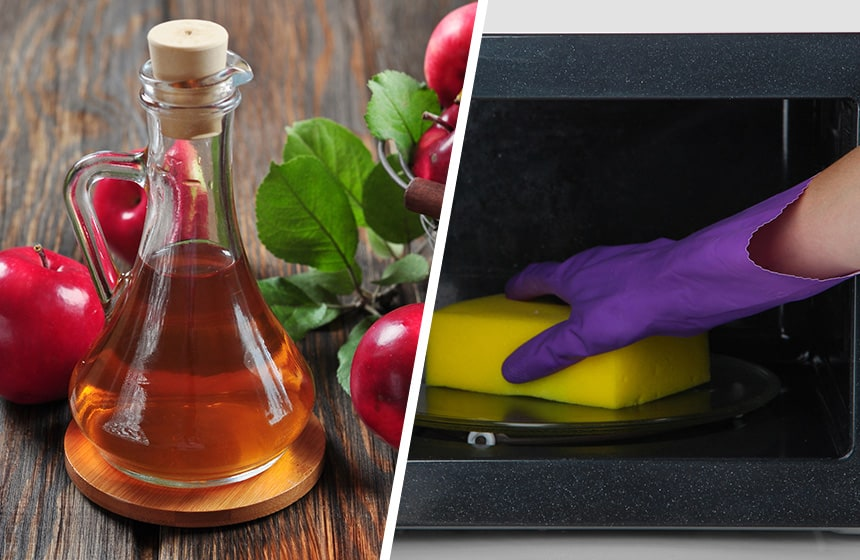 clean a microwave with apple cider vinegar