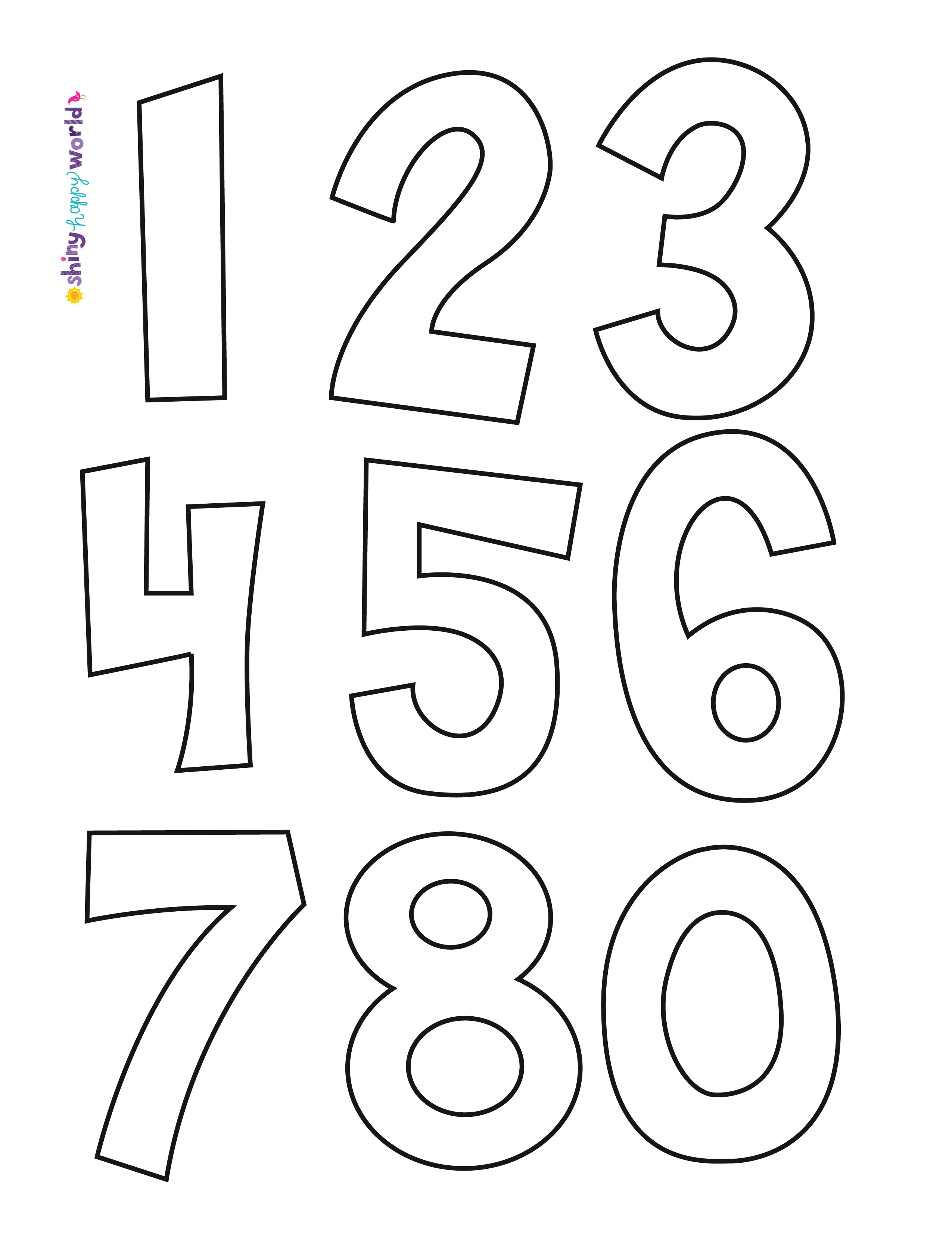 Free Numbers Applique Pattern