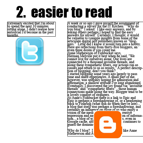 2. Easier to Read