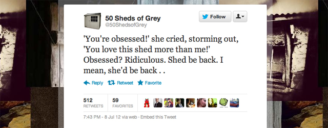 Top 50 Shades Of Grey Twitter Parodies 50 Sheds Andy