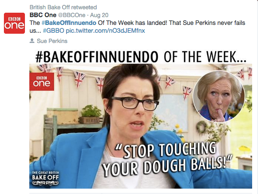 BBC One Great British Bake Off tweet