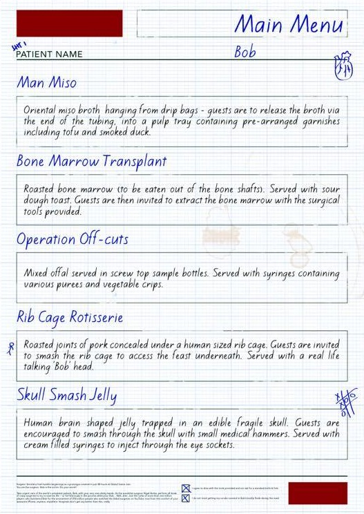 Surgeon Simulator menu