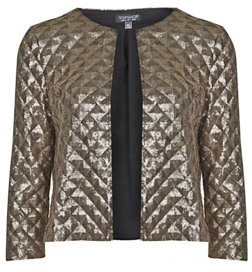 Gold sequin pyramid jacket