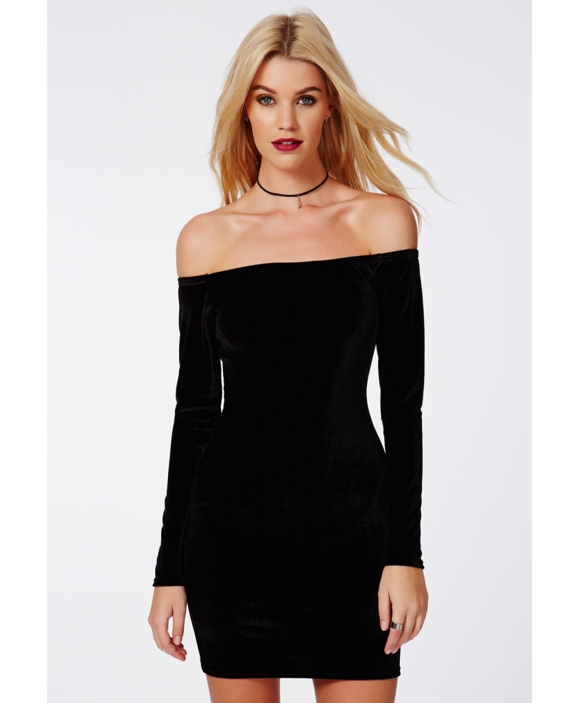 Missguided velvet bodycon dress
