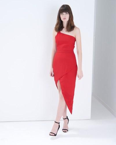 Dollis red bodycon dress