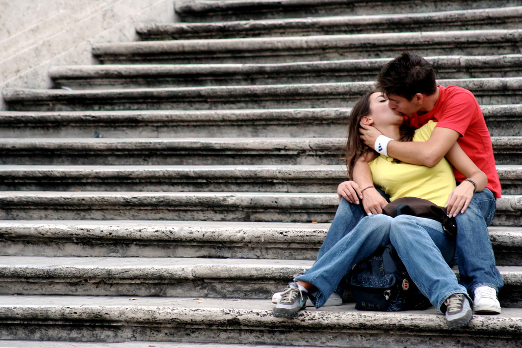 Passionate kisses bond couples, making them release hormones that help them stay together.