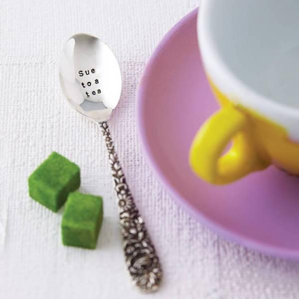 Personalised silver teaspoon