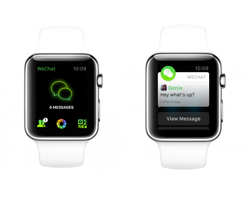 Apple Watch apps: Wechat.