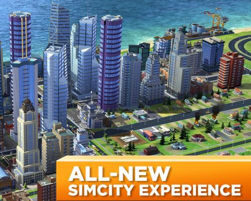 Interesting apps for when you're bored: SimCity Build It.
