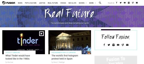 Interesting websites: Fusion.