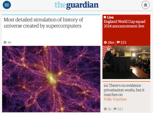 Interesting apps for when you're bored: The Guardian.