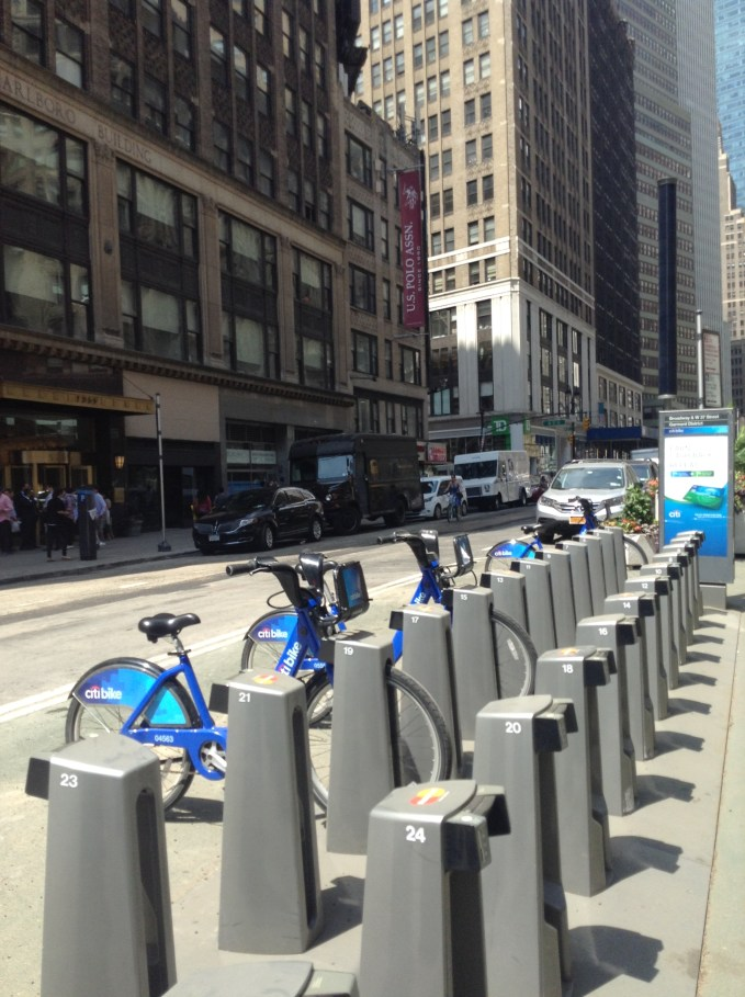Citi Bikes are a popular way to get around Manhattan for commuters and tourists alike