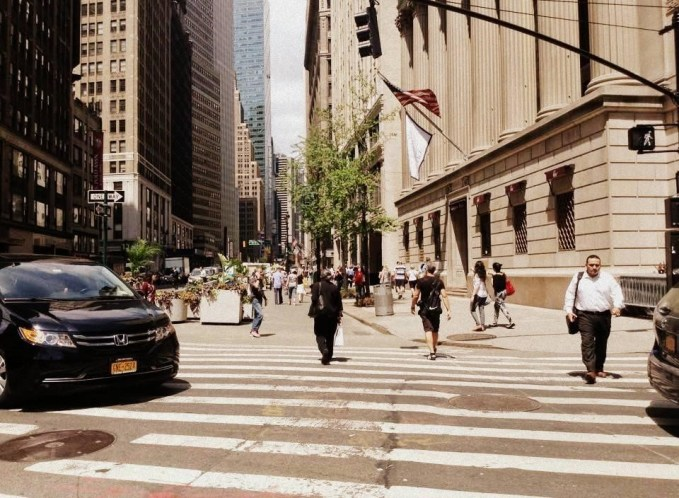 Cars nudge onto zebra crossings … even when the light is on for pedestrians