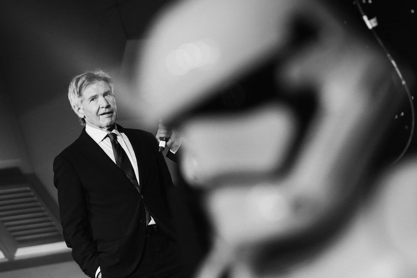 "Harrison Ford attends ""Star Wars: The Force Awakens"" European Premiere >> at Leicester Square on December 16, 2015 in London, England. (Photo by Vittorio Zunino Celotto/Getty Images for Walt Disney)"