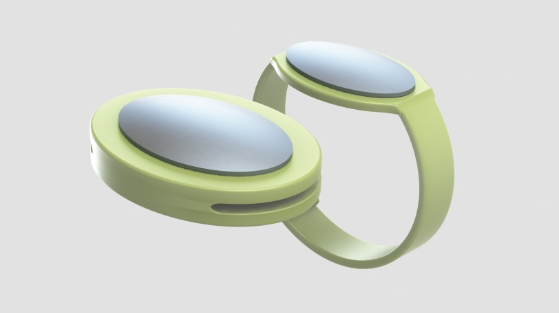 SmartBand technology monitors the proximity between child and pet via a connected collar attachment and wristband.