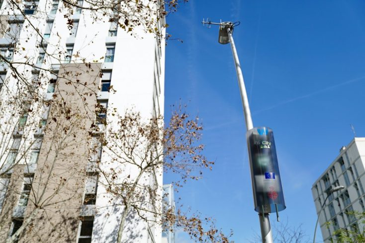Barcelona smart lamppost