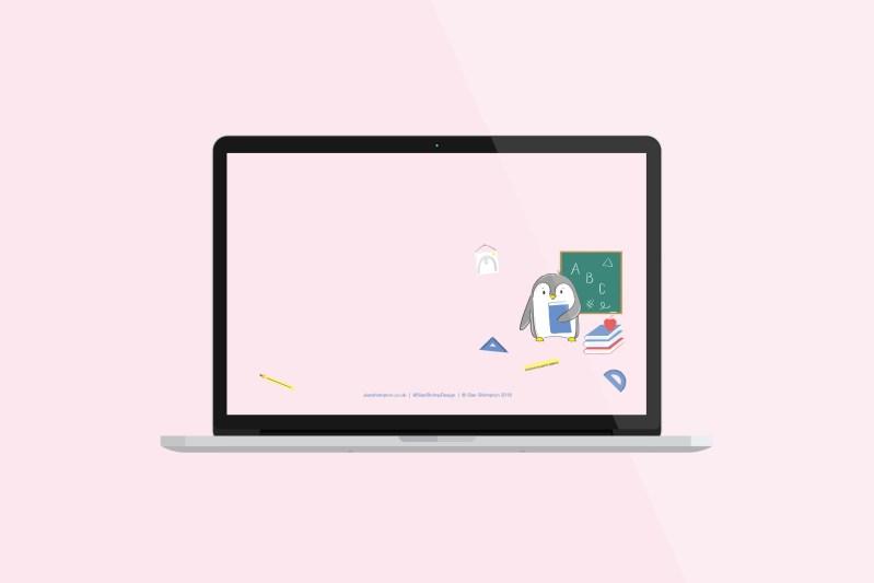 September Free Penguin Desktop Wallpaper