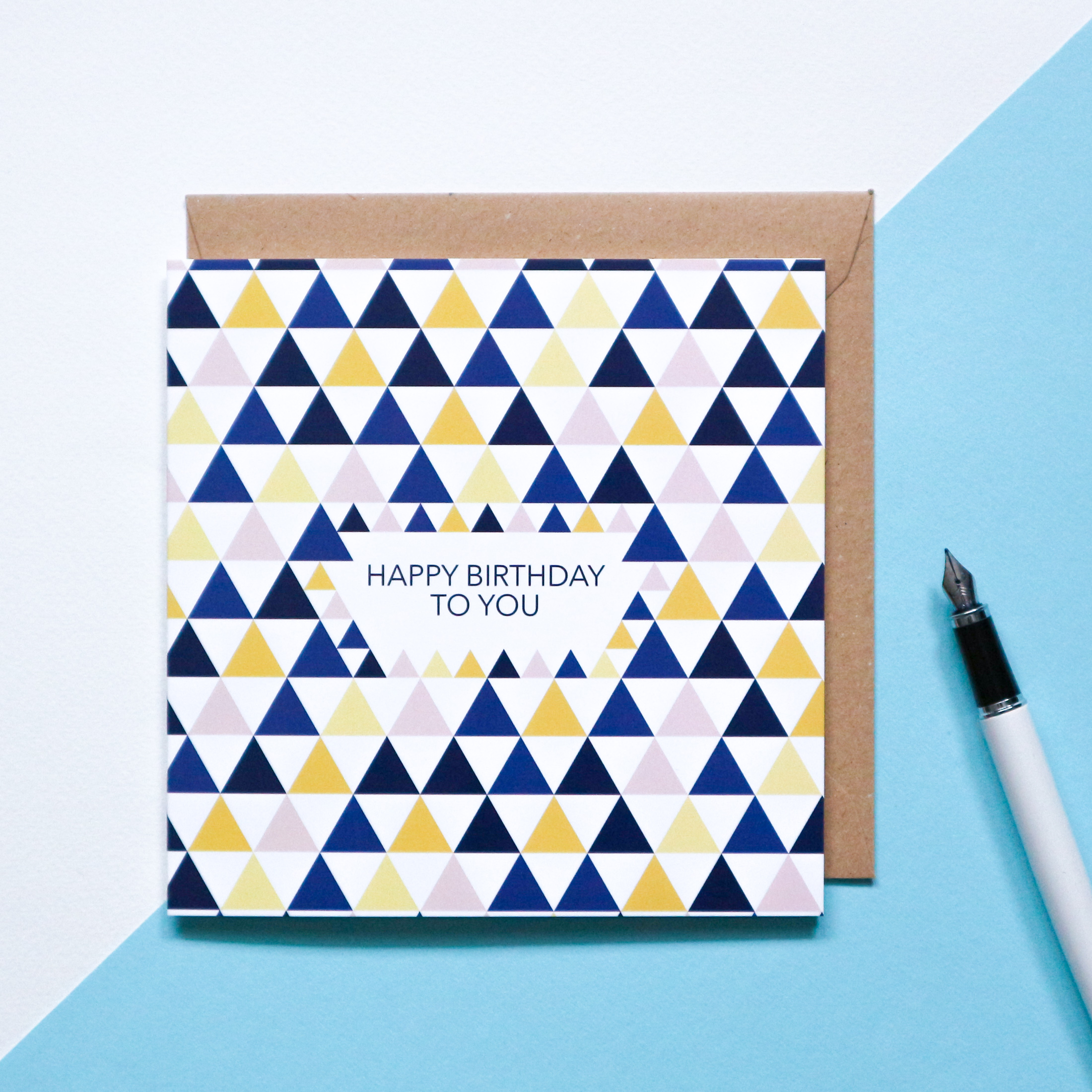 Sian Shrimpton Geometric Birthday Card