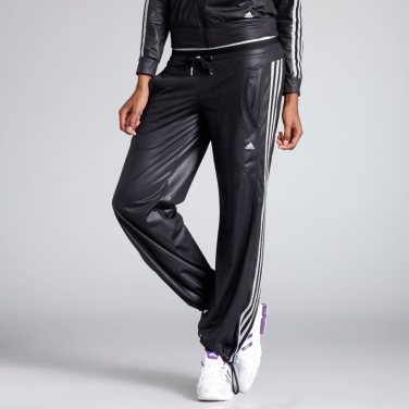 Black Adidas Woven Tracksuit Front Lower Body