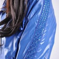 Shiny Blue Nylon Nike Tracksuit